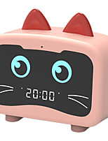 cheap -HOT Alarm Clock Radio with Bluetooth Cat Ears Speaker Digital FM Radio Hands Free HD Call USB Charging Port for Heavy Sleeper