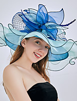 cheap -Queen Elizabeth Audrey Hepburn Retro Vintage Kentucky Derby Hat Fascinator Hat Women's Organza Costume Hat Black / Black & White / White Vintage Cosplay Party Party Evening