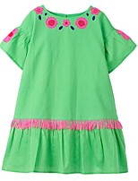 cheap -Kids Girls' Floral Dress Green
