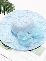abordables -reine Elizabeth La merveilleuse Mme Maisel Rétro Vintage Kentucky Derby Hat Chapeau fascinant Bibi Chapeau Femme Organza Costume chapeau Noir / Blanche / Rose Pale Vintage Cosplay Soirée