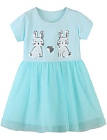 cheap -Kids Girls' Animal Dress Light Blue
