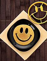 abordables -omelette moule silicone sourire visage oeuf moule bricolage petit déjeuner moule à oeufs crâne crêpe anneau pour enfants oeuf outils