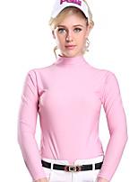 cheap -Women's Girls' Tee / T-shirt Long Sleeve Golf Workout Leisure Sports Outdoor Autumn / Fall Spring Summer / Modal / High Elasticity / Breathable