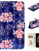 cheap -Case For Apple iPhone 11 / iPhone 11 Pro / iPhone 11 Pro Max Wallet / Card Holder / with Stand Full Body Cases Flower PU Leather For iPhone XS Max/XS/XR/X/8 Plus/7/6/6s Plus/5/5S/SE