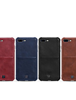 cheap -Case For Apple iPhone XS / iPhone XR / iPhone XS Max Card Holder / Shockproof Back Cover Solid Colored PU Leather
