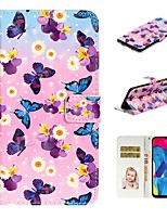 cheap -Case For Samsung Galaxy A10/A30/A50 Wallet / Card Holder / with Stand Full Body Cases Butterfly PU Leather For Galaxy M10/A20/A40/A70/A80/A90/A20E
