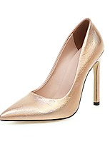cheap -Women's Heels Stiletto Heel Pointed Toe PU Classic Spring &  Fall Black / Gold / Silver / Party & Evening