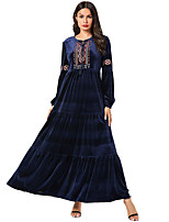 cheap -Adults' Women's Ethnic & Interracial Dress For Party Velour Embroidered Halloween Carnival Masquerade Dress