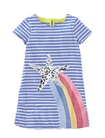 cheap -Kids Girls' Striped Dress Blue