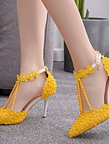 cheap -Women's Heels Stiletto Heel Pointed Toe PU Spring & Summer Yellow