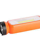 cheap -LED Flashlights / Torch 200 lm LED LED 1 Emitters Portable Camping / Hiking / Caving Everyday Use Cycling / Bike Orange Red Green