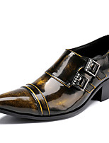 cheap -Men's Novelty Shoes Nappa Leather Spring & Summer / Fall & Winter Classic / British Loafers & Slip-Ons Non-slipping Brown / Party & Evening
