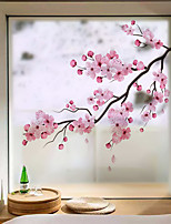 cheap -Peach Blossom Window Film & Stickers Decoration Matte / Floral Floral / Flower / Floral PVC(PolyVinyl Chloride) Window Sticker / Matte / Door Sticker