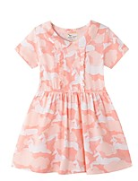 cheap -Kids Girls' Geometric Dress Blushing Pink