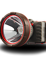 abordables -Lampes Frontales 100 lm LED LED 1 Émetteurs avec Piles Portable Camping / Randonnée / Spéléologie Usage quotidien Cyclisme Orange Rouge