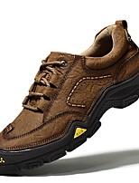 cheap -Men's Comfort Shoes PU Fall & Winter Sneakers Hiking Shoes Light Brown / Khaki
