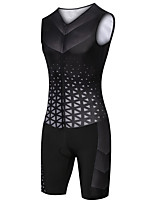 cheap -21Grams Women's Sleeveless Triathlon Tri Suit Black Plaid / Checkered Bike Clothing Suit UV Resistant Breathable Quick Dry Sweat-wicking Sports Plaid / Checkered Mountain Bike MTB Road Bike Cycling