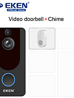 cheap -EKEN V7 WIFI Recording / Android System / Built in out Speaker No Screen(output by APP) Handheld 720 Pixel One to Four more video doorphone With 1*Chime