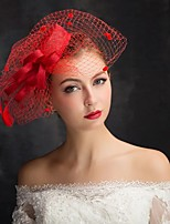 cheap -Queen Elizabeth Audrey Hepburn Retro Vintage Kentucky Derby Hat Fascinator Hat Women's Costume Hat Red Vintage Cosplay Party Party Evening