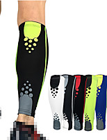 cheap -Leg Sleeves Calf Support Calf Compression Sleeves Sporty for Running Marathon Basketball Moisture Wicking Elastic Breathable Men's Women's Spandex Fabric 1 pc Sports Black / Red Black+Sliver White