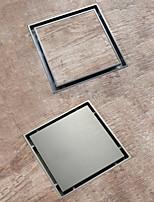 cheap -Chrome / Brushed Brass 15x15mm Bathroom Shower Anti Odor Floor Drain Insert Tile