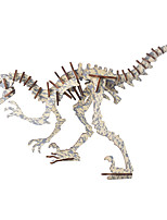 cheap -3D Puzzle Wooden Puzzle Dinosaur Simulation Hand-made Wooden 40 pcs Tank Kid's Adults' All Toy Gift