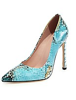 cheap -Women's Heels Print Shoes Stiletto Heel Pointed Toe PU Classic Spring &  Fall Green / Brown / Black / Party & Evening / 3-4 / Party & Evening