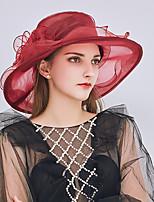 abordables -reine Elizabeth La merveilleuse Mme Maisel Rétro Vintage Kentucky Derby Hat Chapeau fascinant Bibi Chapeau Femme Organza Costume chapeau Noir / Blanche / Violet Vintage Cosplay Soirée