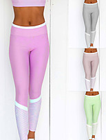 cheap -Women's High Waist Yoga Pants Color Block Black Green Blue Pink Gray Running Fitness Gym Workout Tights Leggings Sport Activewear Breathable Moisture Wicking Butt Lift Tummy Control High Elasticity