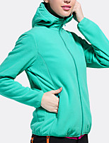 cheap -Women's Hiking Fleece Jacket Winter Outdoor Fleece Lining Warm Comfortable Winter Fleece Jacket Single Slider Climbing Camping / Hiking / Caving Winter Sports Light Green / Burgundy / Red