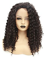 cheap -Synthetic Lace Front Wig Curly Taylor Middle Part Lace Front Wig Long Natural Black Synthetic Hair 22-26 inch Women's Heat Resistant Women Hot Sale Black / Glueless