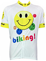 cheap -21Grams Men's Short Sleeve Cycling Jersey 100% Polyester Yellow Bike Jersey Top Mountain Bike MTB Road Bike Cycling UV Resistant Breathable Quick Dry Sports Clothing Apparel / Stretchy / Race Fit