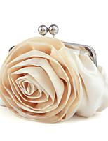 cheap -Women's / Girls' Flower / Embossed Polyester / Alloy Evening Bag Geometric Pattern Black / Sillver Gray / White