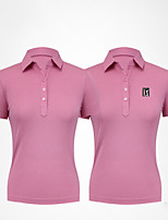 cheap -Women's Girls' Tee / T-shirt Short Sleeve Golf Workout Leisure Sports Outdoor Autumn / Fall Spring Summer / Micro-elastic / Breathable