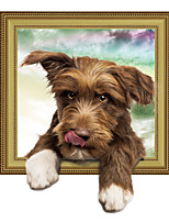 abordables -Adorables stickers muraux rigolos pour chiens - stickers muraux animaux animaux intérieur / chambre d'enfant
