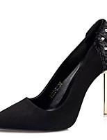 abordables -Femme Chaussures à Talons Talon Aiguille Bout pointu Matière synthétique Doux / Britanique Automne / Printemps été Noir / Vert / Gris / Soirée & Evénement