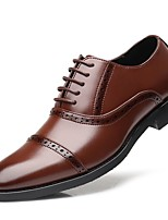 cheap -Men's Formal Shoes Synthetics Spring & Summer / Fall & Winter Business / Casual Oxfords Non-slipping Black / Wine / Party & Evening