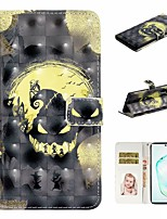 cheap -Case For Samsung Galaxy A6 (2018)/A7(2018) / A8 2018 Wallet / Card Holder / with Stand Full Body Cases Skull PU Leather For Galaxy A10S/A20S/A30S/A50S/Note 10 Plus/J6 Plus/J4 Plus/Note 10