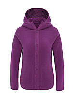 cheap -Women's Hiking Fleece Jacket Winter Outdoor Fleece Lining Warm Comfortable Winter Fleece Jacket Single Slider Climbing Camping / Hiking / Caving Winter Sports Black / Purple / Blue / Pink
