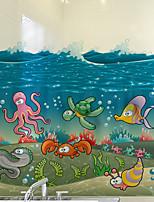 cheap -Cartoon Fish Window Film & Stickers Decoration Matte / Cartoon Animals / Character PVC(PolyVinyl Chloride) Window Sticker / Matte / Cute