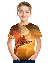 cheap -Kids Boys' Active Street chic 3D Print Short Sleeve Tee Yellow