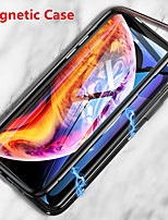 cheap -Case For Apple iPhone 11 / iPhone 11 Pro / iPhone 11 Pro Max Magnetic Full Body Cases Solid Colored Tempered Glass / Metal