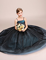 abordables -Princesse Robe Fille Cosplay de Film Cosplay Halloween Noir Robe Halloween Carnaval Mascarade Tulle Polyester