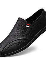cheap -Men's Moccasin Nappa Leather Spring & Summer / Fall & Winter Casual / British Loafers & Slip-Ons Non-slipping Black / Brown / Khaki