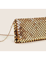 cheap -Women's Alloy Evening Bag Solid Color Gold