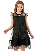 cheap -Kids Girls' Solid Colored Dress Black