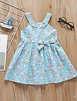 cheap -Kids Girls' Floral Dress Light Blue
