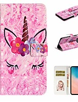 cheap -Case For Samsung Galaxy S9 / S9 Plus / S8 Plus Wallet / Card Holder / with Stand Full Body Cases Animal PU Leather For Galaxy S8/S10/S10 Plus/S10E/S7/S7 Edge