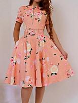 cheap -Women's Blushing Pink Dress Elegant Sheath Geometric M L Slim