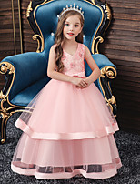 cheap -Princess Dress Girls' Movie Cosplay Cosplay Halloween Yellow / Green / Pink Dress Halloween Carnival Masquerade Tulle Polyester